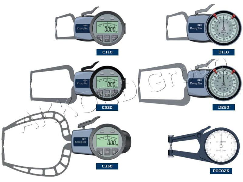 Grosimetre digitale kroeplin